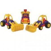 Set 3 utilaje constructie Autobasculanta Buldozer si Tractor compactor Ucar Toys UC13 B39016920