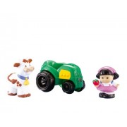 Fisher-Price Little People Sonya Lee with Tractor and Cow Set