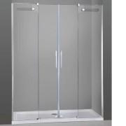 Mampara de ducha Vetrum Spazio 02 fijos y 02 puertas correderas
