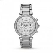 Michael Kors Watches Mk5353 Parker Ladies Silver Chronograph Watch