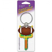 Lucky Line Expressive Key Chain Football 1/Card Multi Color (E121)