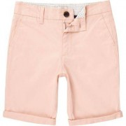 River Island Boys light Pink Dylan slim fit chino shorts - Size 11 - 1