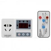 """""""SJF-628 1.4 """"""""LCD inteligente controlador de temperatura digital w / control remoto-blanco + negro (-10 ~ 120'C)"""""""