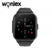Ceas Inteligent pentru copii WONLEX KT15 4G Negru, cu GPS, apelare video, rezistent la apa, localizare WiFI si monitorizare spion