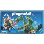 Playmobil 3912 Fire Breathing Dragon & Prince with Horse