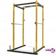 vidaXL Sprava za vježbanje 140 x 145 x 214 cm žuto-crni