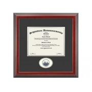 Signature Announcements University-of New-Orleans Marco para Diploma de graduación, 40,6 x 40,6 cm, Color Cereza