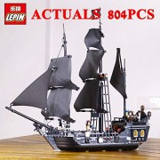 Generic LEPIN Pirates of The Caribbe Ship Toys 16006 The Black Pearl 16009 Caribbean Queen Anne's Revenge Pirates 16018 Ghost Pirate 840PCS