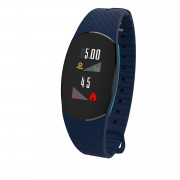 SH09U 0.96-inch TFT Colorful Display Bluetooth 4.2 Fitness Tracker Bracelet with Heart Rate/Blood Pressure - Blue