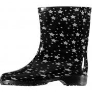 Apollo Half hoge dames regenlaarzen zwart met sterren print dames 40 - Regenlaarzen