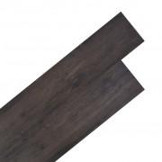 vidaXL Plăci de pardoseală, PVC, 5,26 m², stejar gri închis