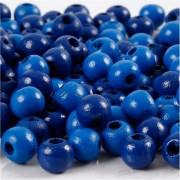 Creativ Company Träpärlor, dia. 8 mm, hålstl. 2 mm, 15 g, blå