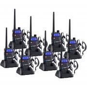 Pack 8 Radio Walkie Talkie Digital Baofeng UV-5R VHF/UHF/FM