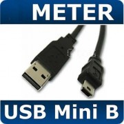 1.5 Black USB 2.0 CABLE LEAD A MALE TO MINI B 5 PIN