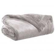 Miliboo Plaid en polyester gris 150 x 200 cm FERO