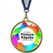 Medalla Deportiva Creative Dorado Viejo 55mm