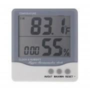 Thc-08 Outdoor / Indoor LCD Digital Termometro Higrometro Electrónico Despertador (gris)