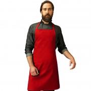 Merkloos Rood barbecue keukenschort voor volwassenen - Action products
