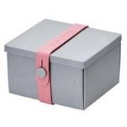 Uhmm Box vierkant Light Grey - Pink