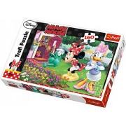 Puzzle clasic pentru copii - Minnie Mouse uda florile 160 piese