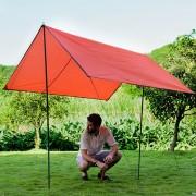 Naturehike Nh15d005-x Portable Espesado Oxford Tela Impermeable Y Resistente Al Desgaste, Estera Plegable Jardín A Prueba De Humedad, Tamaño: 215 * 215cm (naranja)