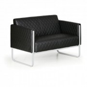 B2B Partner Sitzgarnitur casual, 2 sitzplätze, schwarz