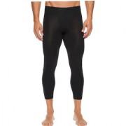 Stylopunk Blue Fitness Mens Tight Compression Gym Tight Cycling Tight Yoga Pant Jogging Tights 3/4