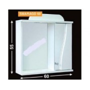 Guido Smaragd 60 tükrös fürdőszobaszekrény