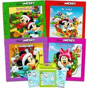 Disney Mickey Mouse and Minnie Mouse Christmas Board Book Set For Kids Toddlers Set of 4 Chunky Mini Holiday Board Books