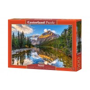 Puzzle Munti pe lac, 500 piese