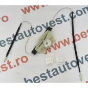 Kit reparatie Mecanism ridicare geam fata Seat Leon 1M, Toledo 1999-2005, Stanga(cablu role si suport geam) Kft Auto