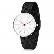 Arne Jacobsen Clocks Armbandsur Bankers Vit/matt svart 34 mm Arne Jacobsen Clocks