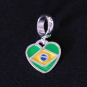 Pendant 925 Brazil Flag for Bracelet Moments of Life