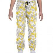 GULTMEE Pantalones de chándal para jóvenes, geométricos, clásico, años 60, inspirados en el patrón del hogar, líneas de Espiga en Zigzag, S-XL, de colores2, Small