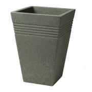 Ghiveci inalt imitatie marmura verde Keter Piazza 35cm 33L