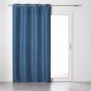Douceur D'intérieur Rideau tamisant Chambray Glory bleu indigo 140x240 cm