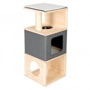 Cubist къща за котки, от дърво - Д 40 x Ш 40 x В 96 км