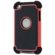 iPod Touch 4 Impact Case - Apple Impact Case (Red/Classic Black)