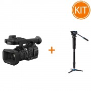 Kit eveniment camera video 4K Panasonic HC-X1000 + Monopied cu cap fluid Benro A48TDS4