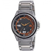 Fastrack Analog Grey Round Watch -3142SM01