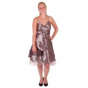 Korte jurk zilver/grijs met v-hals-40/42