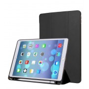 Single Front Leather Tri-fold Stand Smart Case for iPad Air 10.5 (2019) / Pro 10.5-inch (2017)- Black