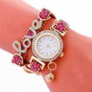 Best quality Luxury Women Watches Fashion LOVE Bracelet Watch Women Relogio Leather Rhinestone Analog Quartz Watch Clock