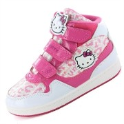 Adidasi gheata Hello Kitty fetite alb roz leopard