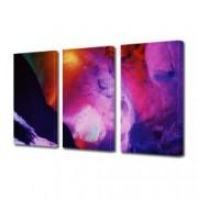 Tablou Canvas Premium Abstract Multicolor Simfonie De Culori Decoratiuni Moderne pentru Casa 3 x 70 x 100 cm