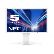 NEC MultiSync EA234WMi white 23' LCD monitor with LED backlight, IPS panel, resolution 1920x1080, VGA, DVI, DisplayPort, HDMI, speakers, 130 mm height adjustable