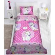 Set lenjerie de pat copii disney Love Marie Pink 180 x 200