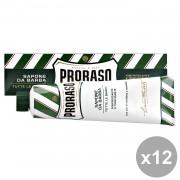 SET 12 PRORASO SAPONE DA BARBA RINFRESCANTE 150 ML