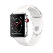 Apple Watch Series 3 Cellular 38mm Stainless Steel Case with Sport Band MQJV2 White (Белый)