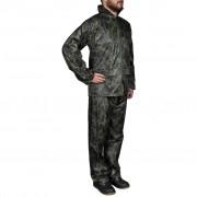 vidaXL Мъжки дъждобран от две части с качулка, камуфлажен, размер L
